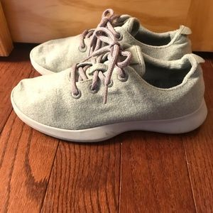 Green Allbirds sneakers